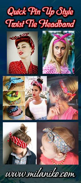 Как сделать повязку на голову в стиле пин ап